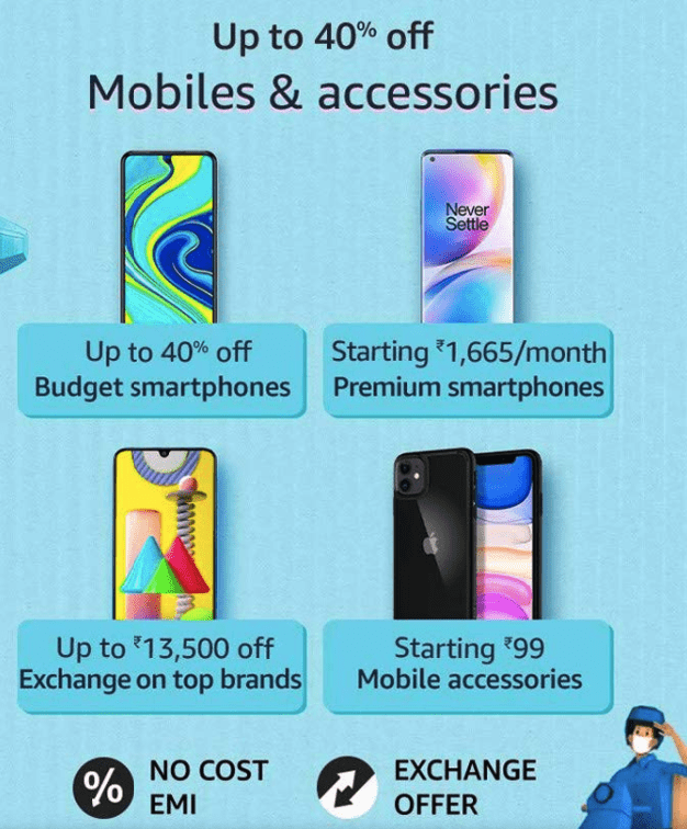 Amazon Prime day Smartphones Offers