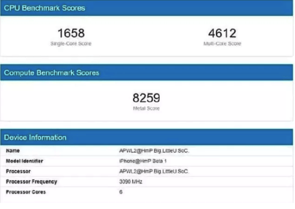 Apple A14 benchmark leaked