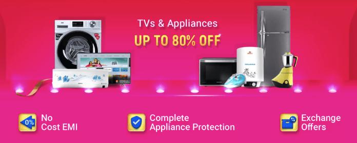 Flipkart Big Billion Days offer on TVs and Appliances