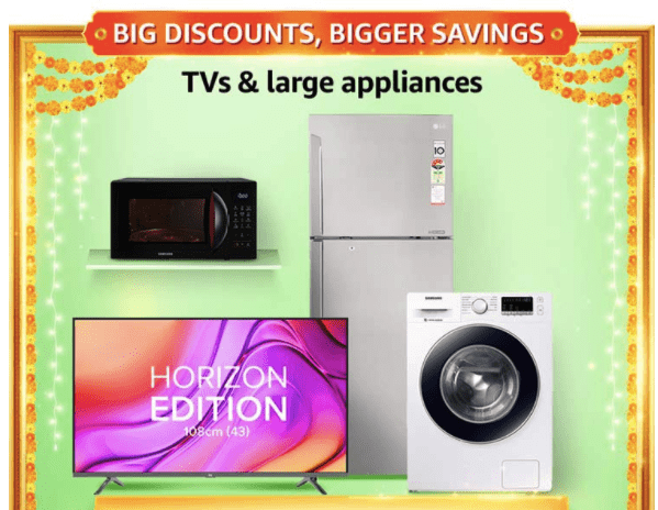 Great Indian Festival Offer on TVs & Large appliances