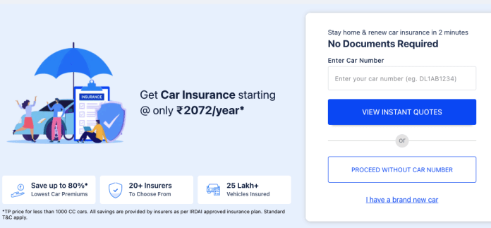 Buy Best Car insurance online in India
