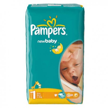 Couches Pampers New Baby Dry Taille 1 Petit Prix 43