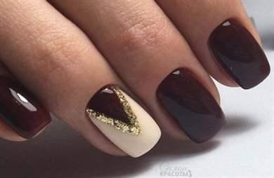 дизайн ногтей коричневый цвет фото 1
