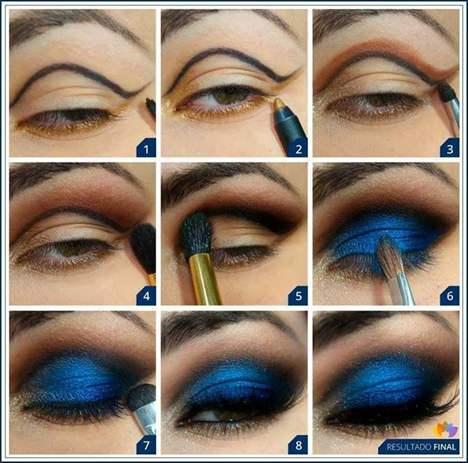 esquina interior negra y azul del ojo