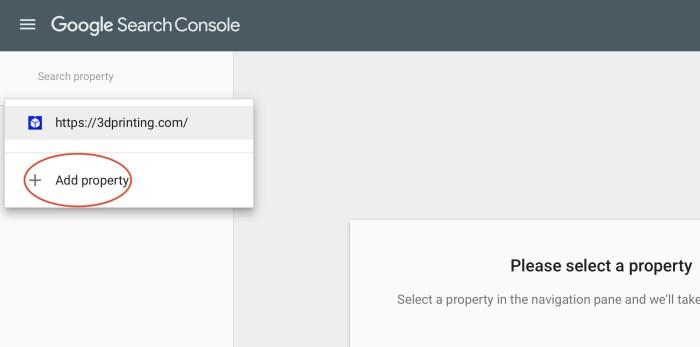 Google paieškos konsolės savybė