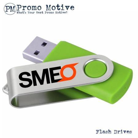 001 Green Swivel Flash Drive