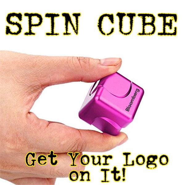 cybus fidget spinner also called spin cube. Get your logo on a spin cube
