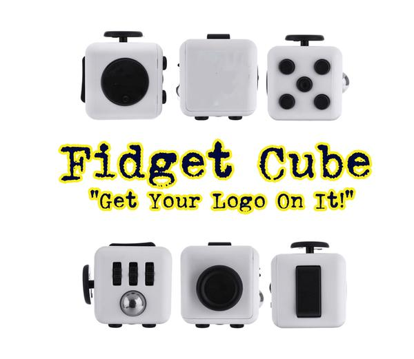 A Fidget Cube is a 6-sided cube that is a little over 1 inch squared or cubed if you like.
