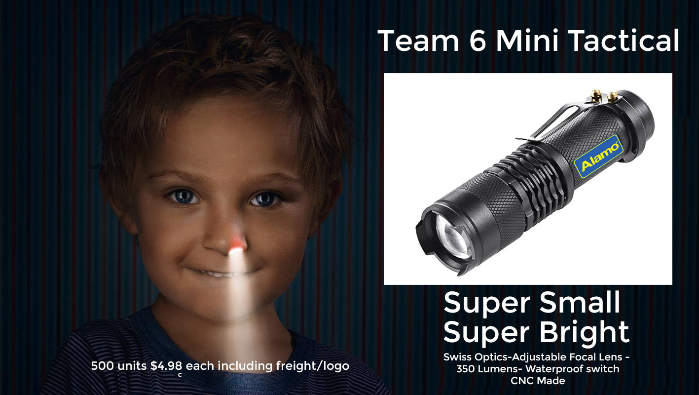 team 6 mini tactical flashlight