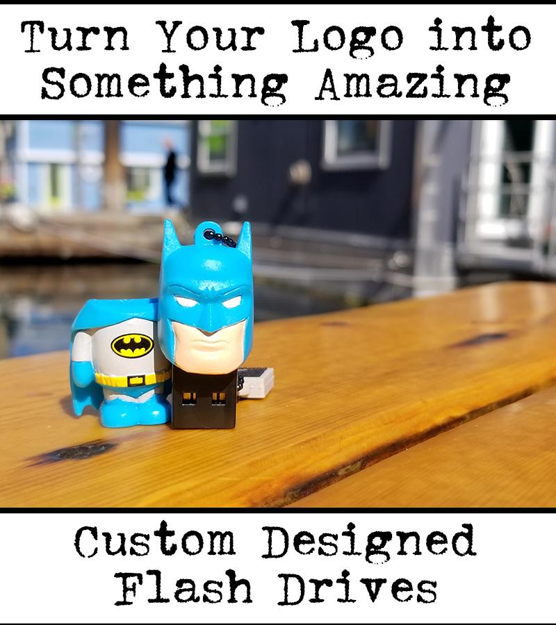 batman shaped custom flash drive for tradeshow
