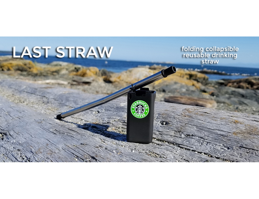 put your logo on a collapsible folding drinking straw black color