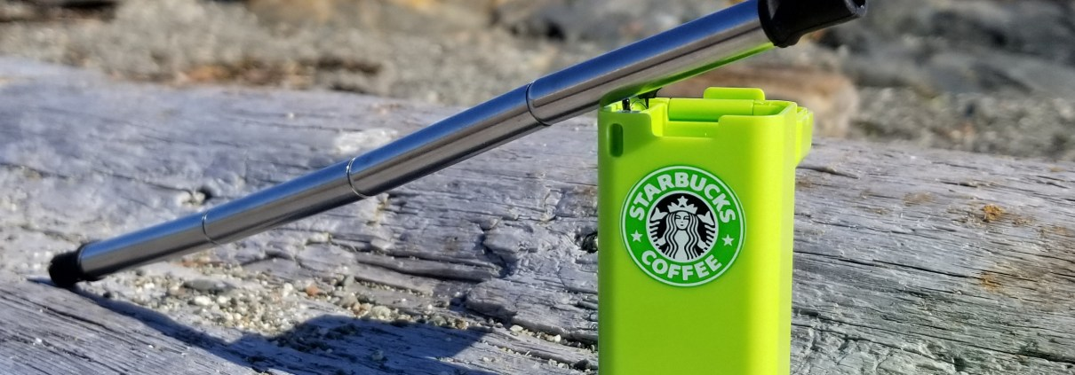 The folding reusable collapsing drinking straw for your logo