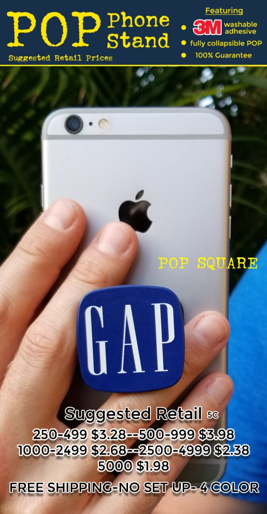 POP phone stand coded prices for pop square 2