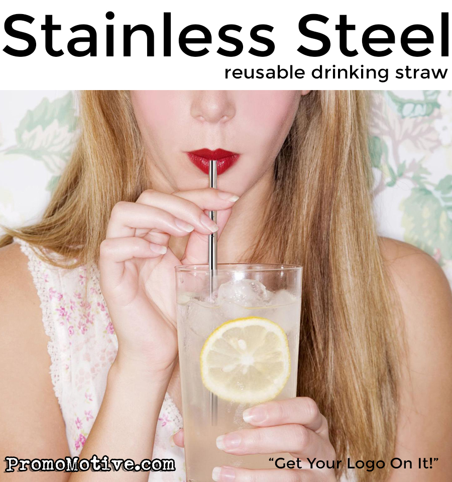 get a logo on a stainless steel drinking straw