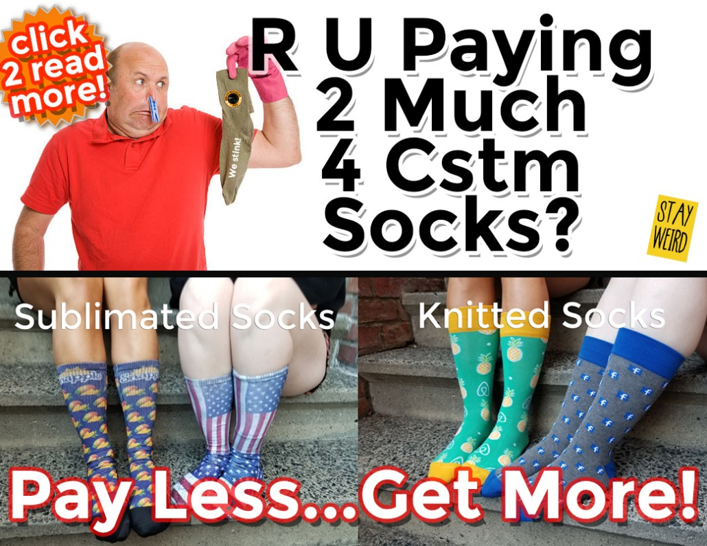 stop paying too much for custom logo socks
