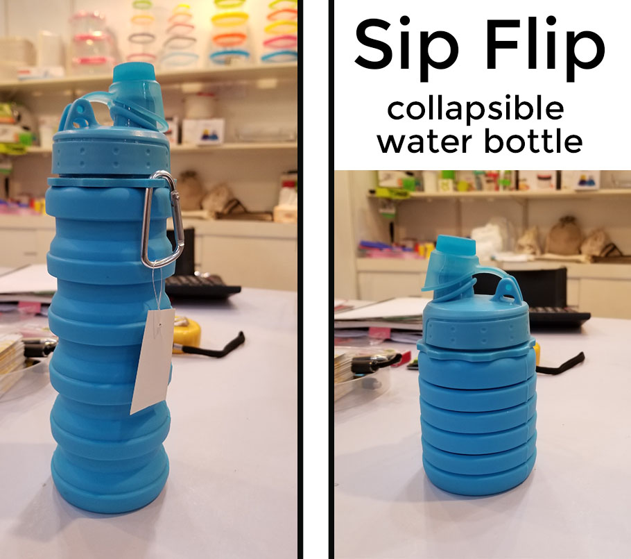 Silicone collapsible water bottle. China direct product promotional products from promo motive
