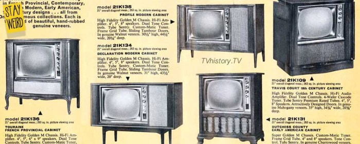 usa made tv set