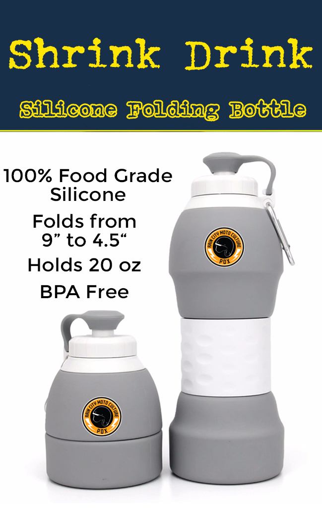 shrink drink the folding collapsible silicone water bottle