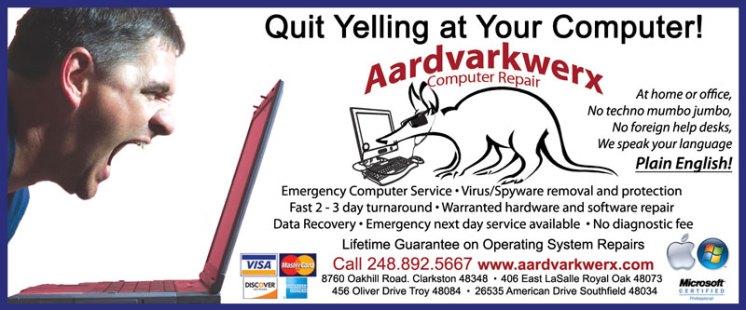 aardvarkYELLING