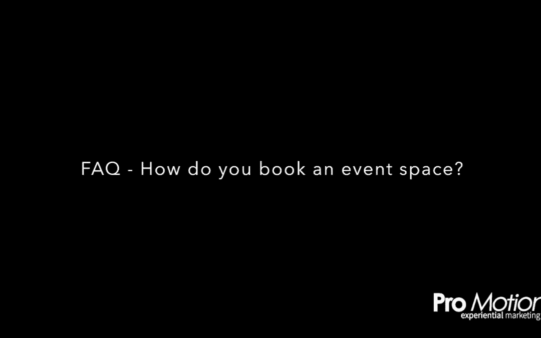 FAQ – How do you book an event space? – Cathi