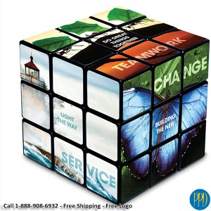 6 side logo rubiks cube