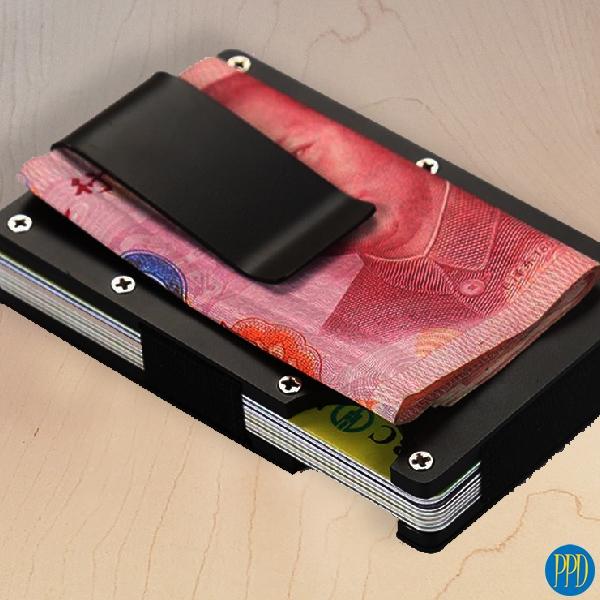 ridge rfid wallet for business logo