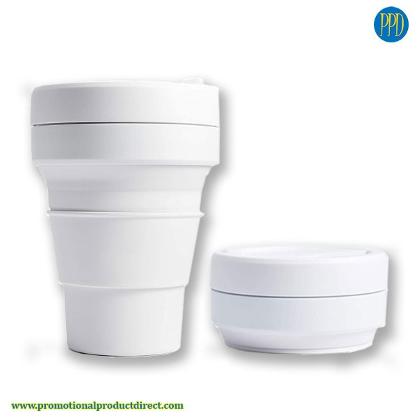 custom folding silicone collapsible coffee cup