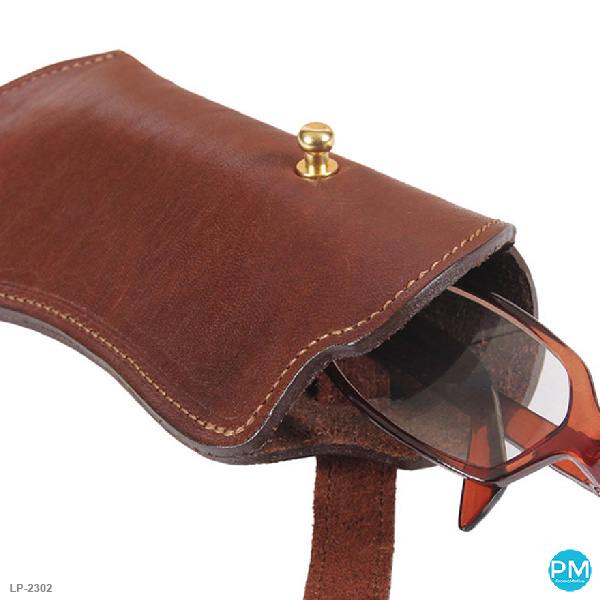 leather promotional products eye glass case