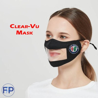 clearmask see through clear vinyl mask for business