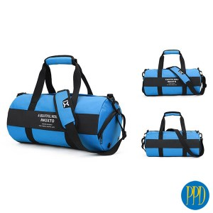 Custom duffel gym bag.Design your own duffel bag. Perfect for any fitness enthusiast, health business or event. Promotional Product Direct