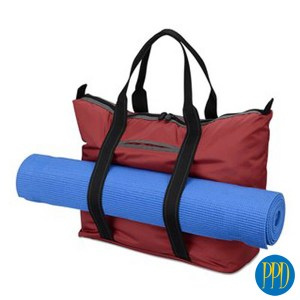 sports bag with yoga matt promotional product