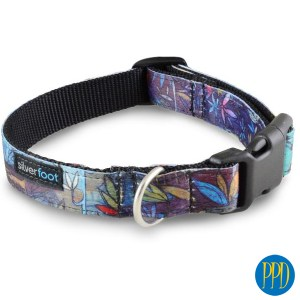 Custom sublimated full color pet collars. Amazing high quality custom sublimated full color pet collars. Perfcet for brand identity for pet stores and pet products. Customized logo or private label available.Promotional Product Direct.