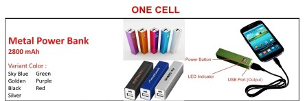 Power Bank Calelog One Cell 1