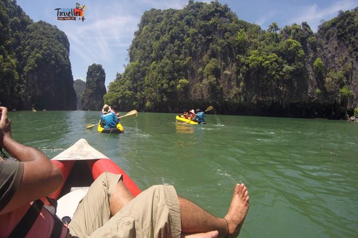 Island Hopping in Phuket - Canoeing to James Bond Island