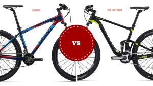 Hardtail versus full suspension