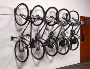 wall hung mountain bike storage