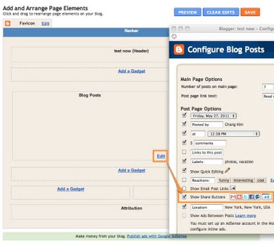Blogger Share Buttons, Google +1 Button