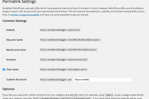 WordPress Permalink Setting Page