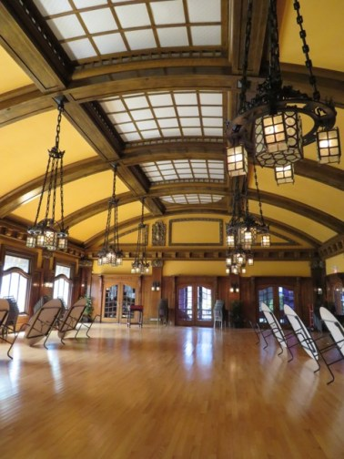 The Royal Alexandra Hall (reconstructed from pieces preserved from the Royal Alexandra Hotel in Winnipeg) is a hall used for formal events in Cranbrook (Photo © 2016 by V. Nesdoly)