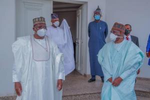 PHOTO: Buhari's Chief of Staff Visits Senate President