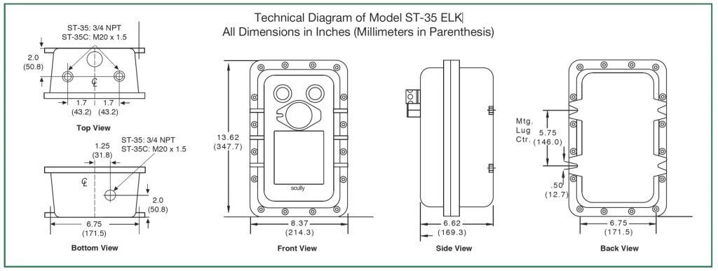 Technical Diagram of Model ST-35 ELK