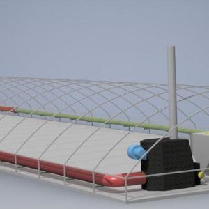 Отопление в теплице 500 кв.м. низкая крыша