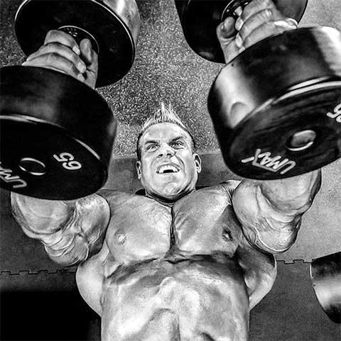 Бодибилдер Джей Катлер фото - тренировки грудь гантели