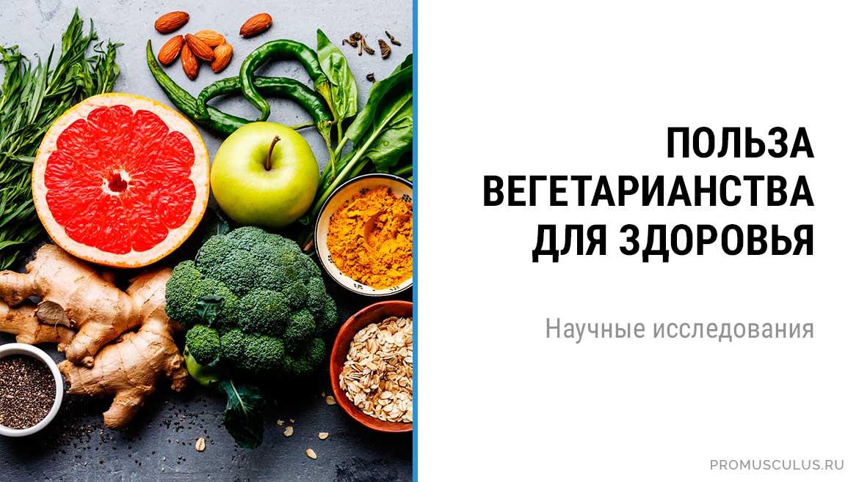 Польза вегетарианства/веганства для здоровья. Научные исследования