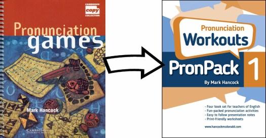 PronPack alongside Mark Hancock's first book - Pronunciation games