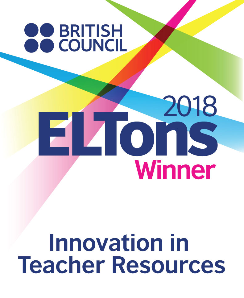 PronPack 1-4, winner of the 2018 Innovation in Teacher Resources Award. The ELTons Awards for innovation in English language teaching are the British Council's international awards. Over the past sixteen years, they have celebrated the original courses, publications, projects, apps, and platforms finding new ways to meet the needs of English language learners and teachers around the world.
