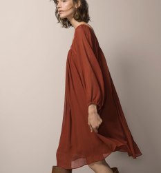 massimo dutti, Street style terracotta, dress, outfit, looks, terracota, tijolo, castanho, laranja