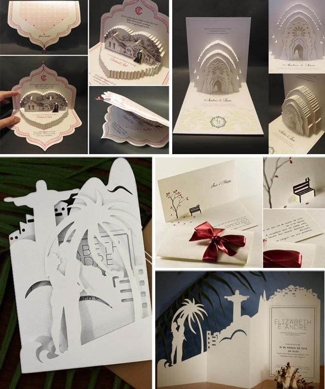 As técnicas de recorte de papel transformam um material simples em grandes obras de arte! Que tal aplicar o estilo ao convite?