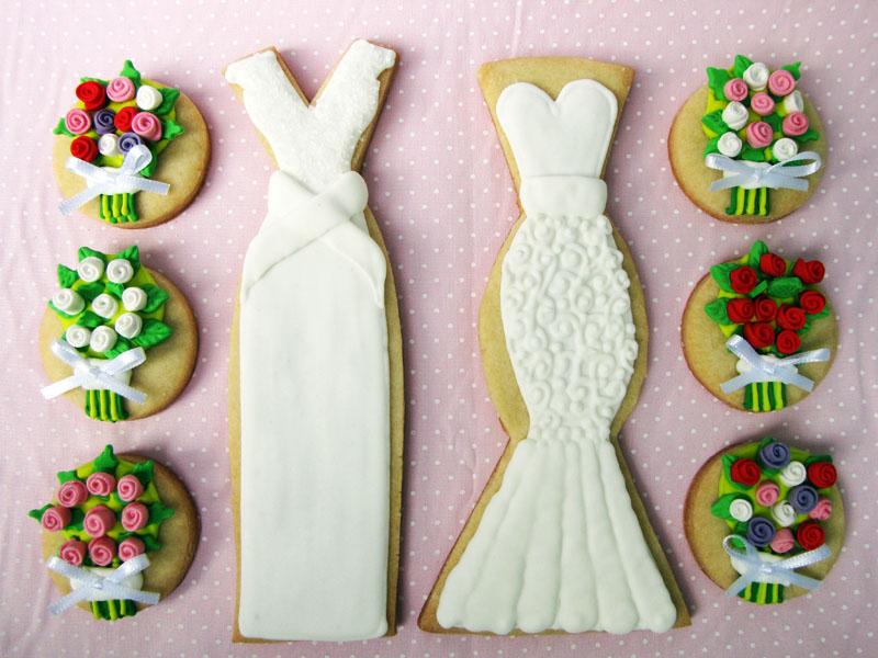 Biscoitos decorados da Petit Four