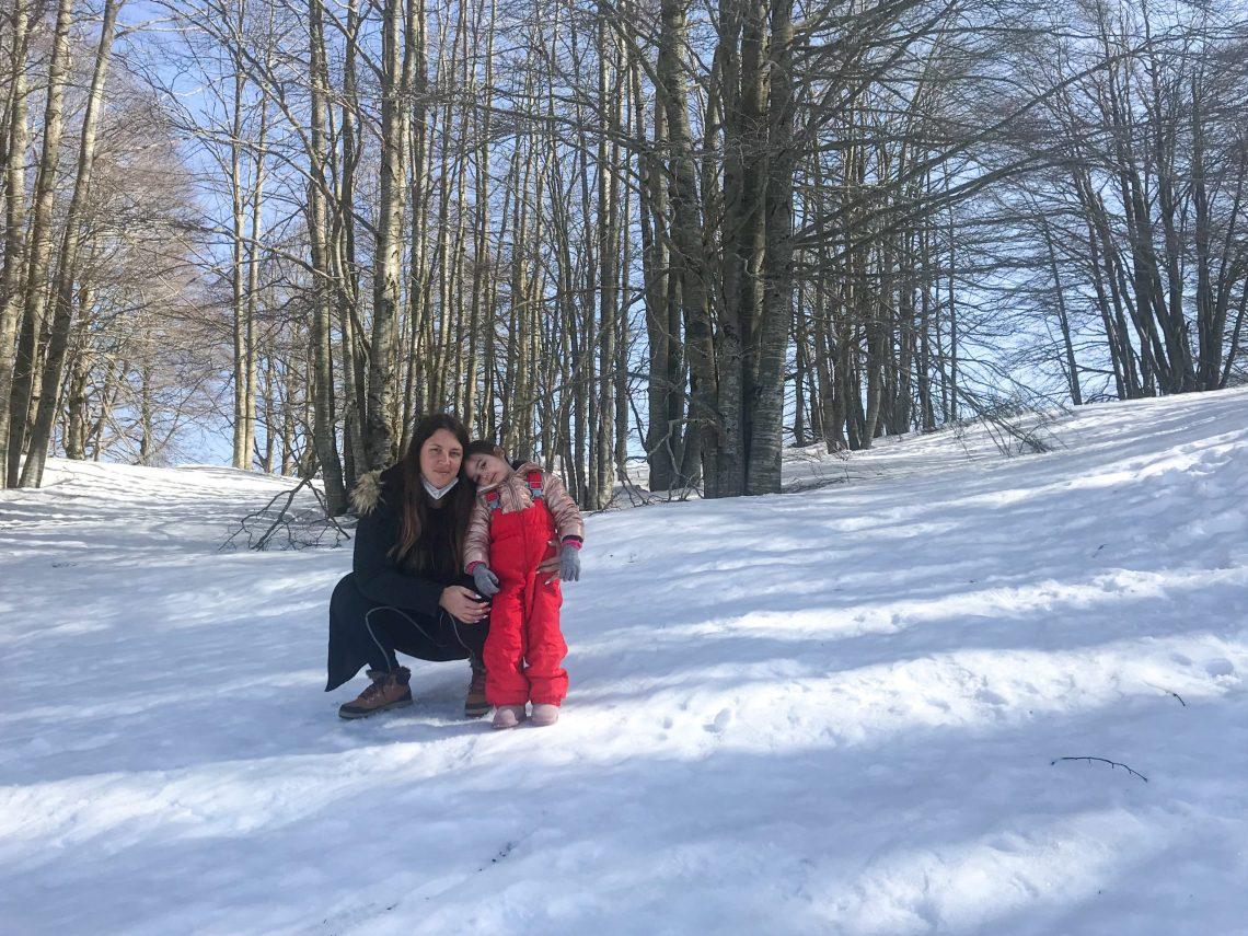 Monte Livata con la neve
